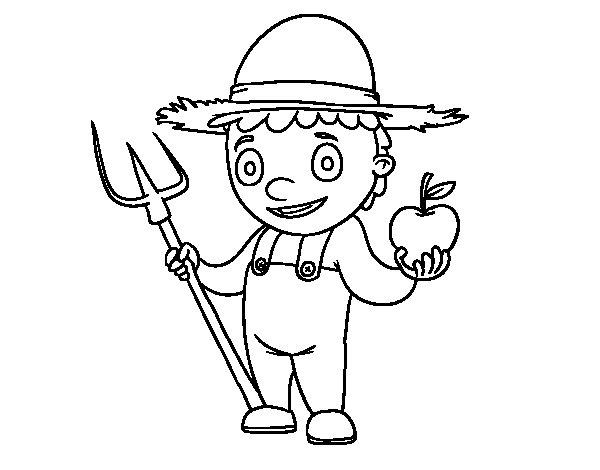 Desenho de Horticultor para Colorir