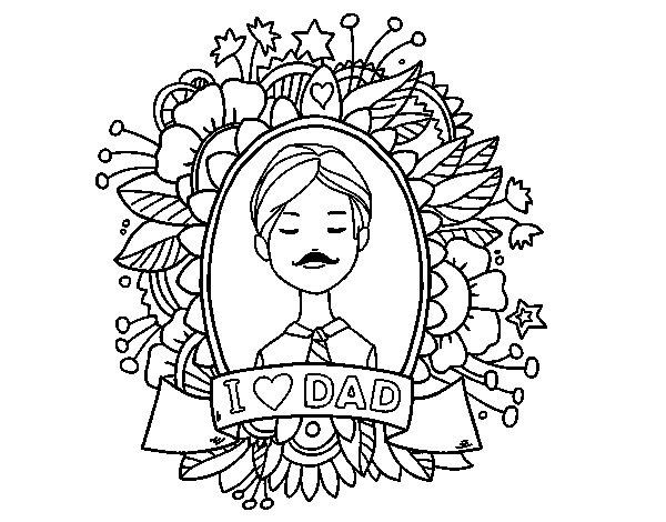 Desenho de I love Dad para Colorir