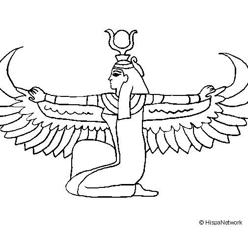 Desenho de Isis para Colorir