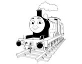 Desenho de James a locomotiva vermelha para colorear