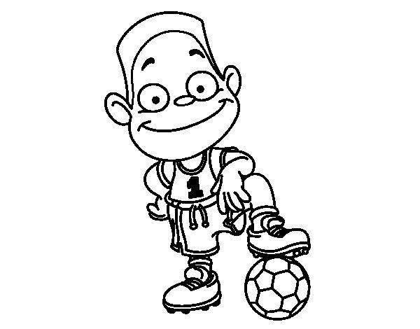 Desenho de Jogador número 1 para Colorir