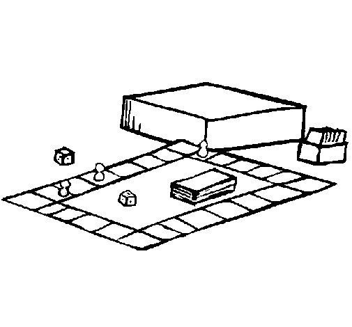 Desenho de Jogo de mesa para Colorir