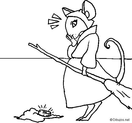 Desenho de La ratita presumida 2 para Colorir