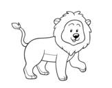 Desenho de Leão adulto para colorear