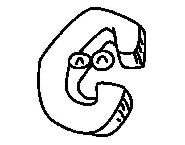 Desenho de Letra C para Colorir