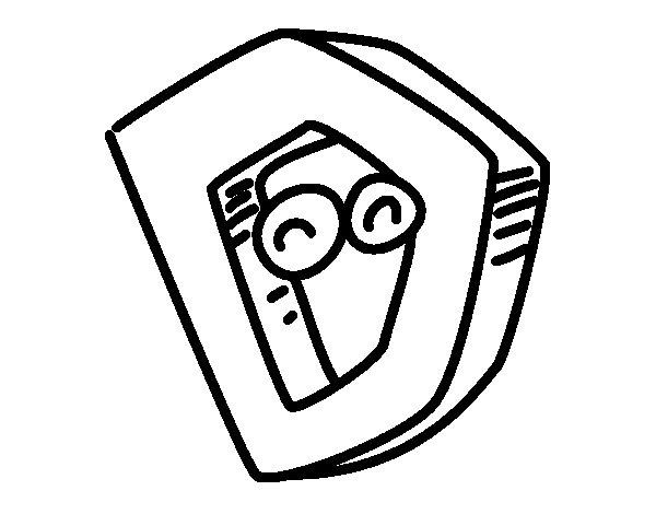 Desenho de Letra D para Colorir
