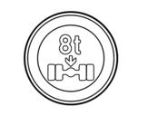 Desenho de Limitação de carga por eixo para colorear