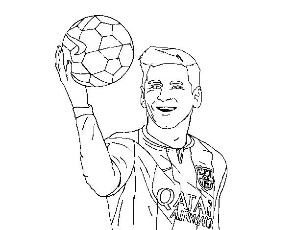 El Mejor Porter Para Colorear El Mejor Porter Para Imprimir: Desenho De Lionel Messi Para Colorir