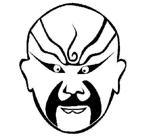 Desenho de Lutador oriental para Colorir