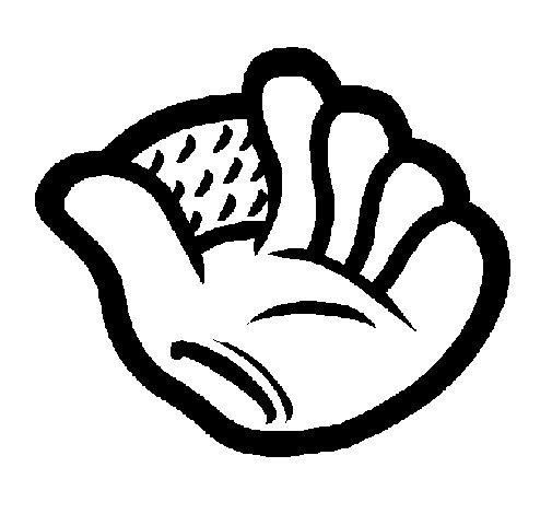 Desenho de Luva de basebol para Colorir