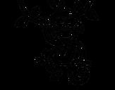 Desenho de Macaco pendurado para colorear