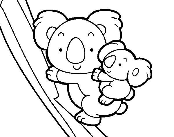 Desenho de Mãe coala para Colorir