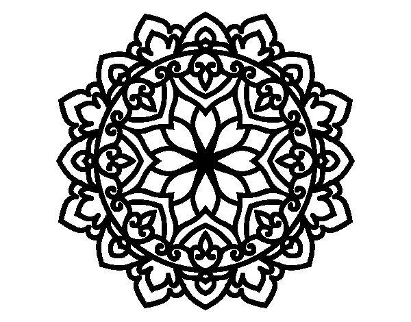 Desenho de Mandala celta para Colorir