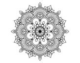 Desenho de Mandala flash floral para colorear