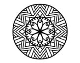 Desenho de Mandala flor de bambu para colorear