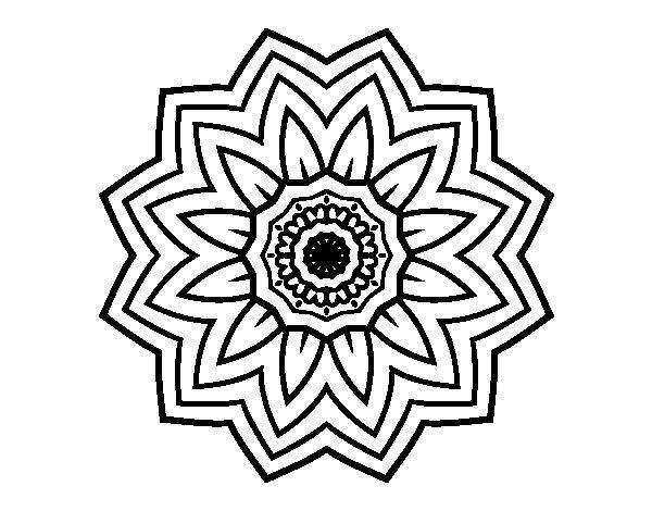 Desenho de mandala flores de girassol para colorir for Mandalas de decoracion para pared