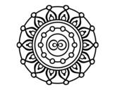 Desenho de Mandala meditação para colorear