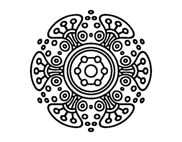 Desenho de Mandala mundo distante para Colorir
