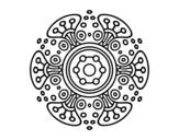 Desenho de Mandala mundo distante para colorear