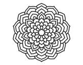 Desenho de Mandala pétalas de flores para colorear
