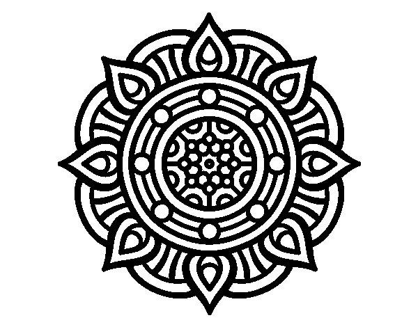 Desenho de Mandala pontos de incêndio para Colorir