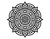 Desenho de Mandala pontos de incêndio para colorear