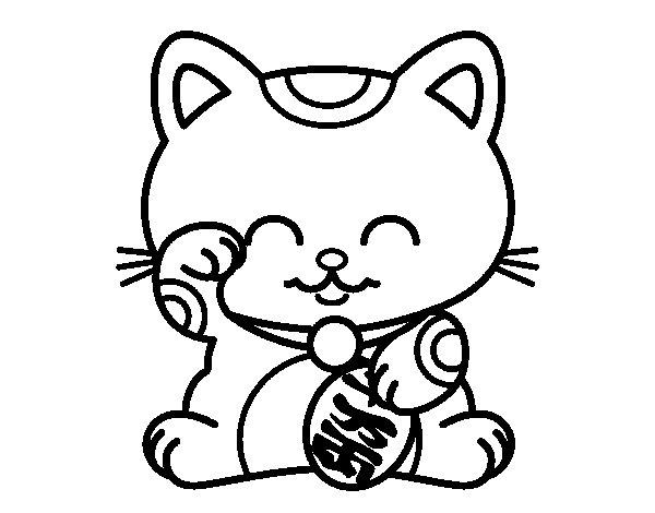Desenho de ManekiNeko para Colorir