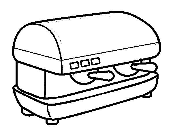 desenho de m quina de caf para colorir. Black Bedroom Furniture Sets. Home Design Ideas