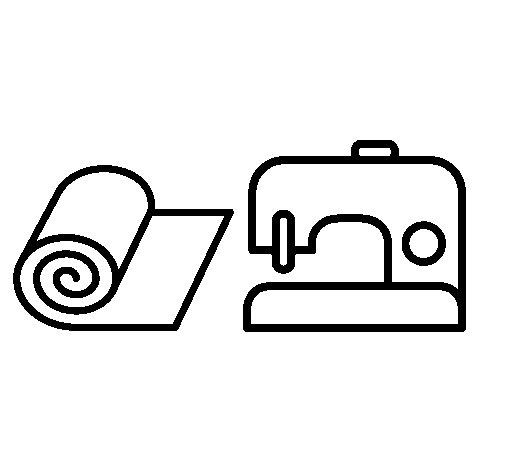 Desenho de Máquina de costura para Colorir