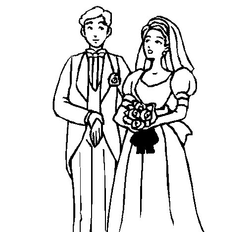 Desenho de Marido e esposa III para Colorir