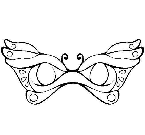 Desenho de Máscara para Colorir