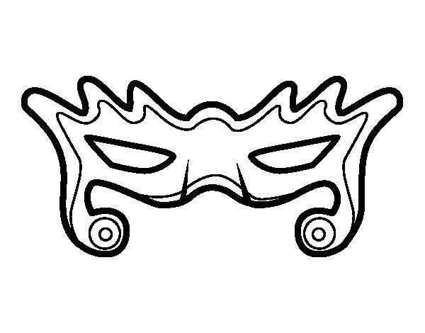 Desenho de Máscara moderna para Colorir
