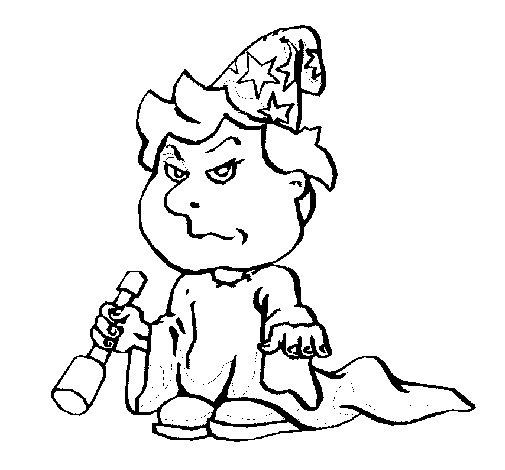 Desenho de Menino mago para Colorir