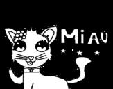 Desenho de Miau para colorear