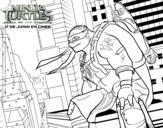 Desenho de Michelangelo  Nija Turtles para colorear