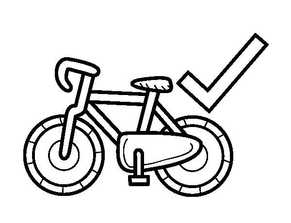 Desenho de Mobilidade sustentável para Colorir