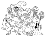 Dibujo de Monstro do Halloween