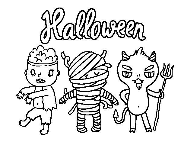 Desenho de Monstros para o Dia das bruxas para Colorir