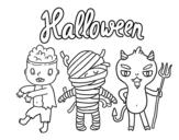 Desenho de Monstros para o Dia das bruxas para colorear