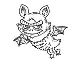 Desenho de Morcego de Halloween para colorear