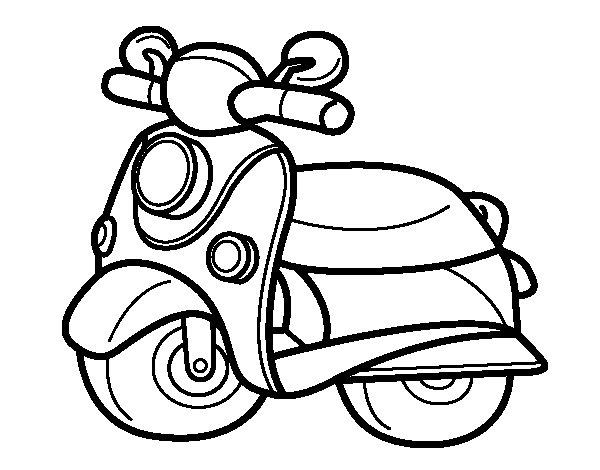 Desenho de Motocicleta Vespa para Colorir