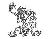 Desenho de Mumia malvada para colorear