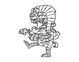 Desenho de Múmia Tutankamon para colorear