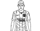 Desenho de Neymar Jr. para colorear