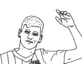 Desenho de Neymar saudação para colorear