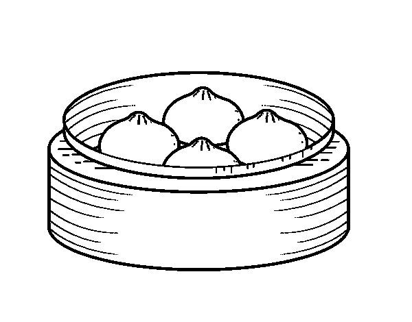 Desenho de Nikuman para Colorir