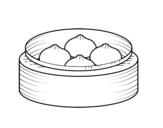 Desenho de Nikuman para colorear