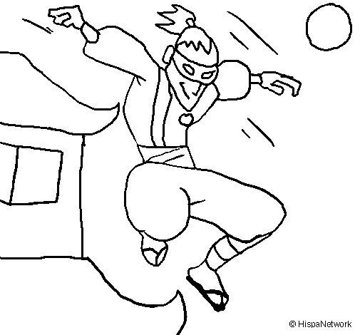 Desenho de Ninja II para Colorir