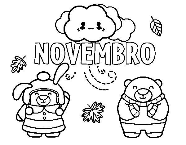 Desenho de Novembro para Colorir