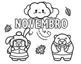 Desenho de Novembro para colorear